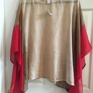 Chico's poncho top . New with tags